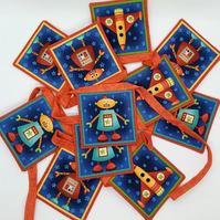 Robot and Rocket bunting 146