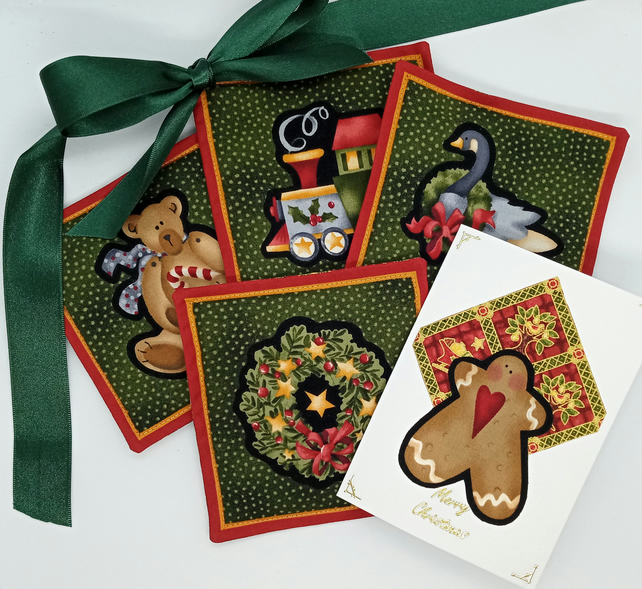 Scented Christmas coasters and card