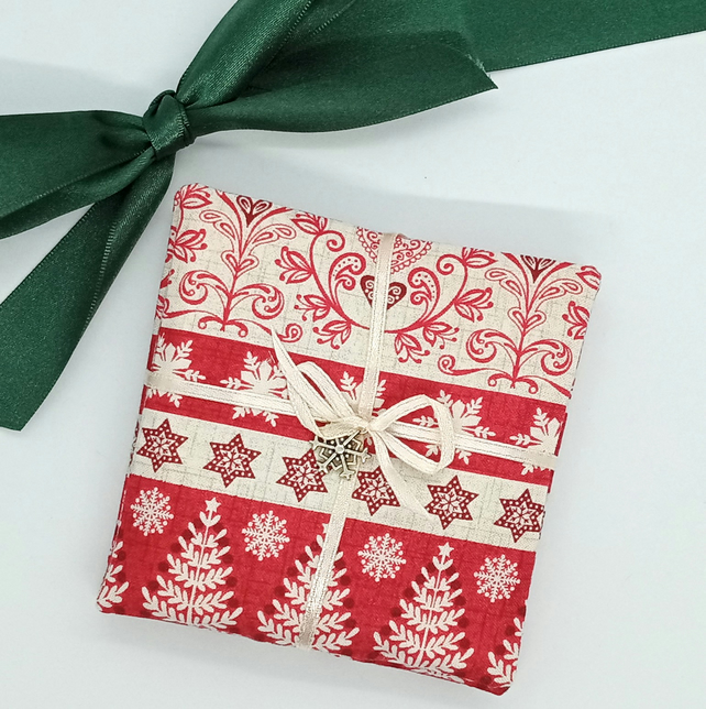 Nordic scented fabric Christmas coasters