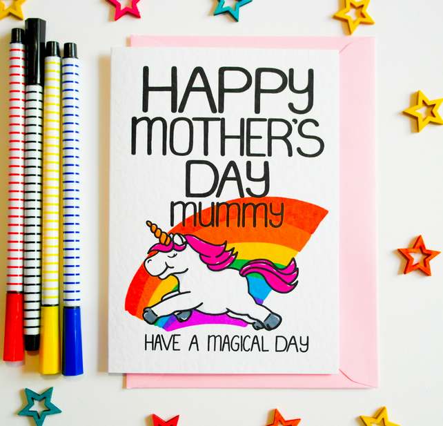 Happy Mother's Day Mummy Have A Magical Day Mother's Day Card