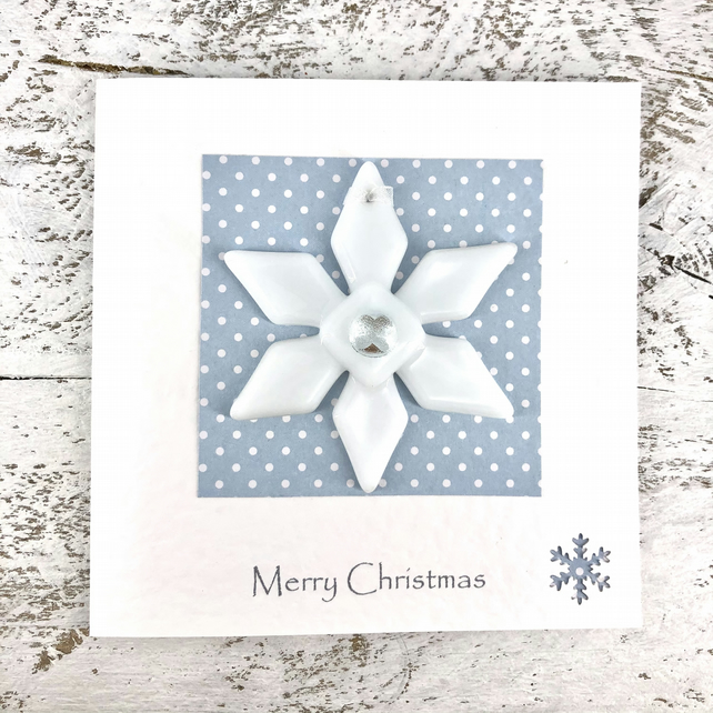 Christmas Card with Detachable Snowflake Decoration