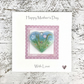 Mother's Day Card with Detachable Glass Meadow Heart