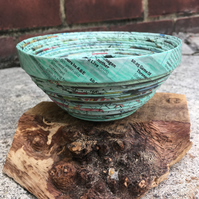 Green Recycled Newpaper Bowl