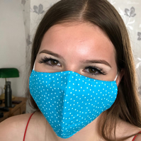 Handmade 100% Cotton Face Mask.Washable,Breathable and Reusable