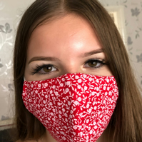 Handmade 100% Cotton Face Mask.Washable,breathable and Reusable.Made in the UK