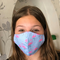Handmade 100% Cotton Face Mask.Washable,Breathable and Reusable.Made in the U.K