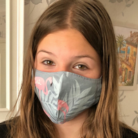 Handmade 100%Cotton Face Mask.Washable,Breathable and Reusable.Made in the U.K