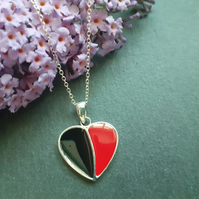 Sterling Silver Heart Resin Pendant