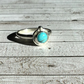 Kingman Turquoise Sterling and Fine silver gemstone ring