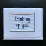 Sympathy 'thinking of you' Card