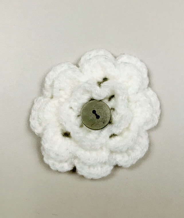Crochet Flower Pin