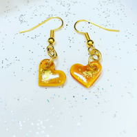 Cute ceramic yellow & gold hearts.