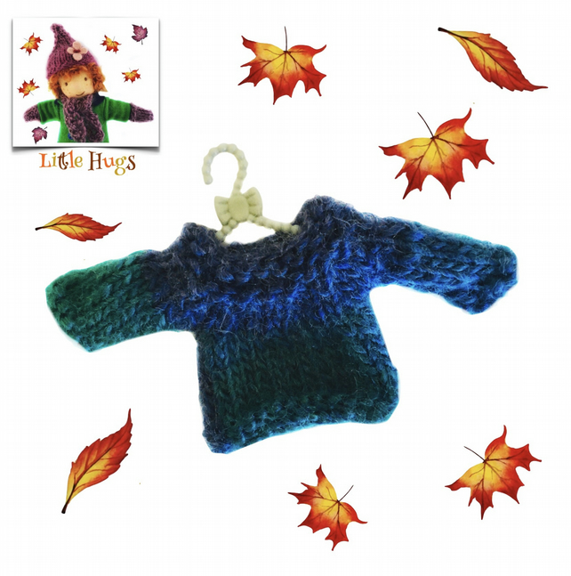 Turquoise  Shaded Jumper to fit the Little Hug Dolls