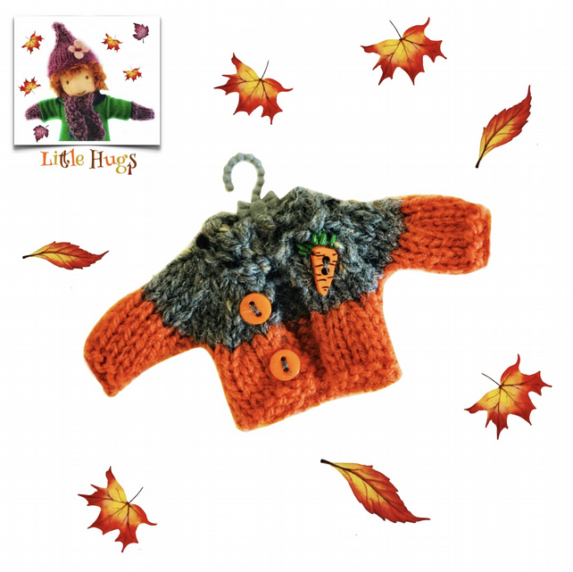 Autumn Cardigan to fit the Little Hug Dolls