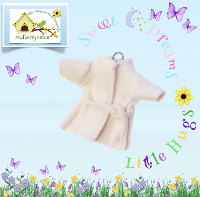 Pink Fleece Dressing Gown to fit the Little Hugs dolls and Baby Daisy