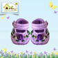 Lavender and Purple Rosebud Shoes