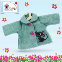 Cute Kitten Tailored and Embroidered Jacket