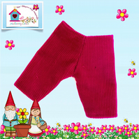 Raspberry Corduroy Cropped Trousers