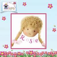Rosie Robertson -  a handcrafted Mulberry Green doll