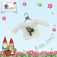Pretty Little Rosebuds Jumper to fit the Little Hug Dolls