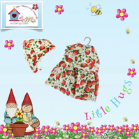 Little Hugs' Strawberries Dress and Scarf Set