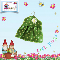 Green Flowered Dress to fit the Little Hugs dolls and Baby Daisy