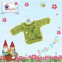 Green sequinned Jumper to fit the Little Hugs dolls and Baby Daisy