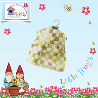 Lime Checked Dress to fit the Little Hugs dolls and Baby Daisy