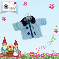 Pale Blue Jacket with a Navy collar to fit the Little Hugs dolls