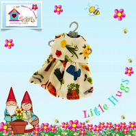 Gardening Print Dress to fit the Little Hugs dolls and Baby Daisy