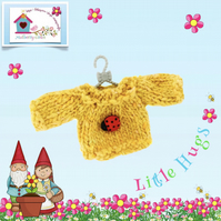 Bright Yellow Ladybird Jumper to fit the Little Hugs dolls