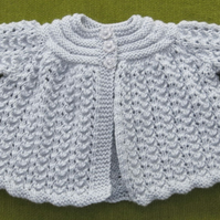 Silver Grey Matinee Coat for baby 0-3 months