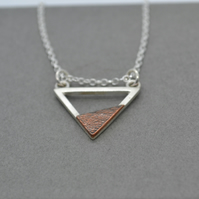 Mountain Lakes Copper and Recycled Silver Necklace. The Lakes Inspired