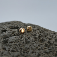 Recycled 9ct Gold Nugget Stud Earrings.