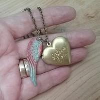 Heart Locket & Angel Wing