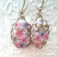 Floral Cabochon Earrings...