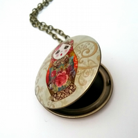 Matryoshka Russian doll locket