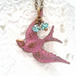 Pink Swallow Necklace