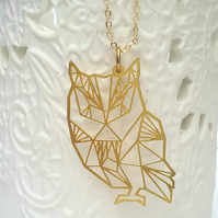 Brass Owl Necklace...