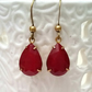 Deepest Red Vintage Glass Earrings