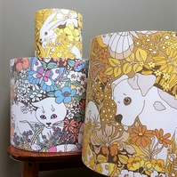 Fun  60s 70s Animals SPOT AND FRIENDS Sanderson  Vintage Fabric Lampshade option