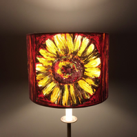 60s 70s Orange Zest Crazy Daisy Odile Sanderson vintage fabric Lampshade option