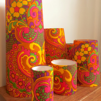 Wow Groovy KASHMIR 70s Cravendale Vintage fabric Lampshade