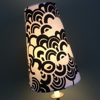 Geometric MOD black white Monochrome  VIntage fabric Lampshade