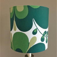 Big Green Groovy Flower Retro fabric Lampshade