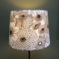 Subtle RETRO 70s Floral SIDMOUTH Grafton Vintage fabric Lampshade