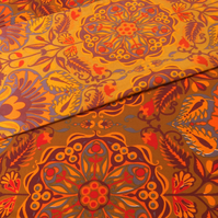 Bold Orange and Grey Marrakesh Jonelle RETRO Vintage Fabric Lampshade