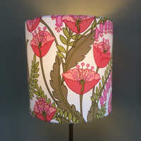 70s pink and lime floral CLIO Sanderson Vintage Fabric  Lampshade option