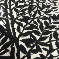 Monochrome  RAMEE Black and White 50s Leaf Vintage fabric Lampshade