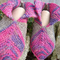 Knitted Pixie boot slipper socks.   UK Adult size 4 - 4.5